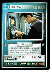 STAR TREK CCG FIRST CONTACT RARE CARD PAUL PORTER