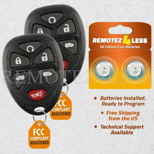 2 Replacement for Buick Chevy Pontiac Saturn Entry Remote Car Key Fob 6b RS