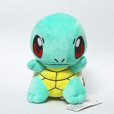 """Pokemon Character Stand Squirtle Plush Stuffed Animal 6/"""" Doll Xmas Gift US ship"""