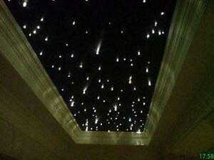 sternenhimmel mit 220 lichtfasern led glasfaser leuchte ebay. Black Bedroom Furniture Sets. Home Design Ideas