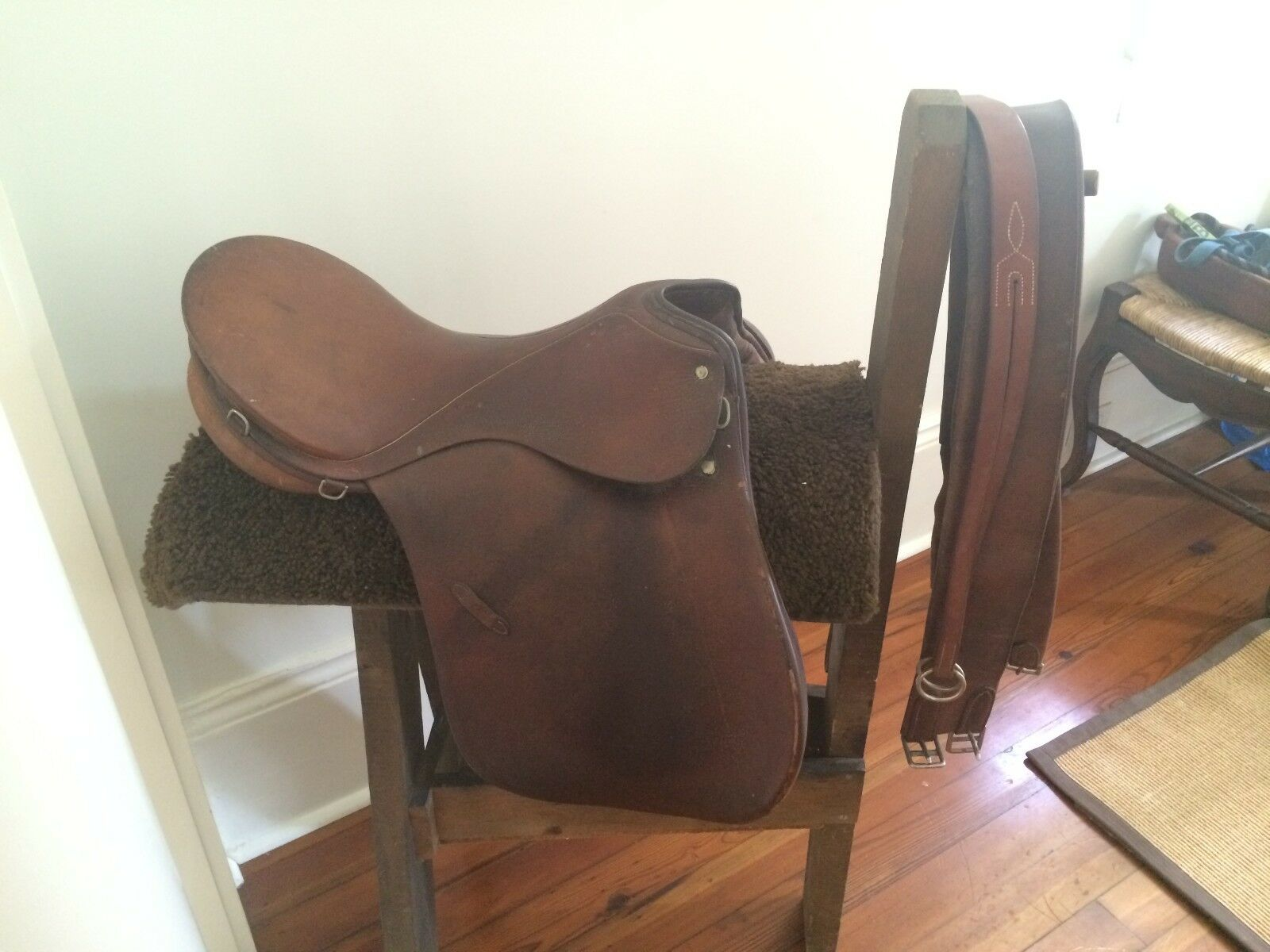Vintage Saddle Caddy with Leather G. Passier & Sohn Leather Saddle & Straps
