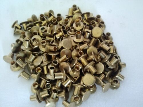 100 ~ 4-3 Chicago Pure Brass Brake / Clutch Rivets