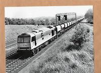 "BR  60.004 Redland freight train Kettering 20/5/91 large original 10""x8"" photo."