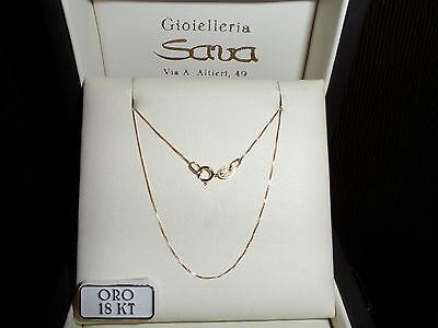 Collana Veneziana Unisex in Oro Giallo 750 18 kt CM 45 grammi 1 Nuova