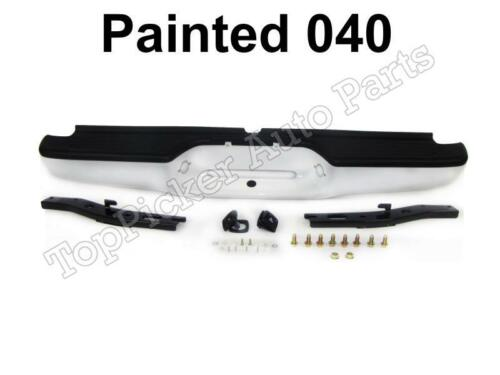 Painted 040 Super White Rear Step Bumper Full Assy For 1995-2004 Tacoma Std Bed