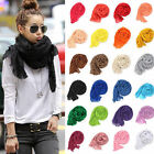 Fashion Womens Girls Womens Soft Crinkle Long Pure Candy Scarf Wrap Shawl Stole