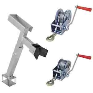vidaXL Hand Winch/Support Manual Car Boat Trailer Camper Strap Cable 363/544kg