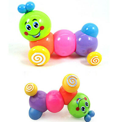 Kids Baby Developmental Educational Toy Lovely Colorful Caterpillars Wind-up Toy