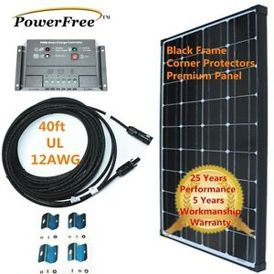 Complete Kit Black Frame 100w 100 Watt Mono Solar Panel