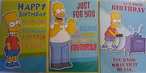 Official Licensed The Simpsons Happy Birthday Card Env Bart Homer