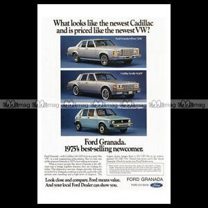 phpb-001469-Photo-FORD-GRANADA-VOLKSWAGEN-RABBIT-GOLF-1975-A4-Advert-Reprint