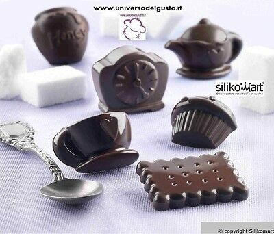 STAMPO CIOCCOLATINI IN SILICONE TEA TIME Easy Choc SILIKOMART DECORA TORTE
