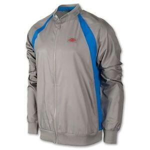 7b9aa57f3a9d NIKE Men s Jordan AJ1 Muscle Wind Break BREAKER Jacket FZ GREY BLUE ...