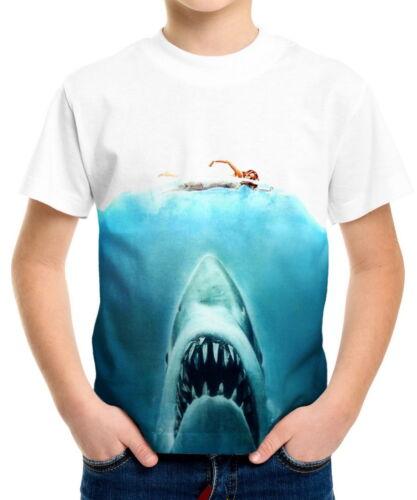 Jaws Boys Kid Youth T-Shirts Tee Age 3-13 ael40039
