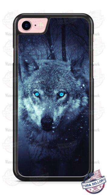 Blue Eye Gray Wolf Fantasy Phone Case for iPhone X 8 PLUS Samsung 9 LG G7 etc