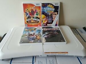 Wii Fit Balance Board + 4 Games And Carrying Case Bundle.