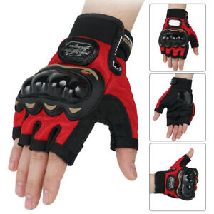 Army Military Combat Hunting Shooting Tactical Hard Knuckle Half Finger Gloves
