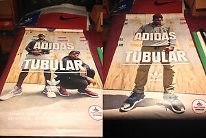 finest selection a97e7 1e2ce Details about Official Footlocker Canvas Banner Pole Display Poster (ADIDAS  TUBULAR)