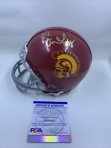 JT Daniels Signed USC Trojans Mini Helmet PSA/DNA Georgia Bulldogs