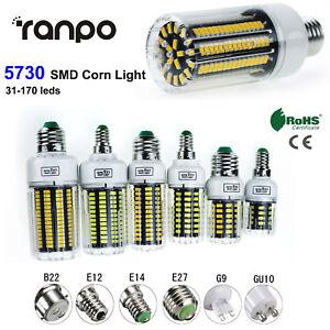 E12-E14-E27-B22-LED-Corn-Bulb-Light-Lamp-110V-220V-5730-SMD-30-165W-Equivalent
