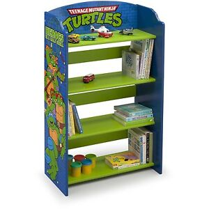 Image is loading Ninja-Turtles-Bookshelf-Storage-Kids-Room-Wooden-Toy-  sc 1 st  eBay & Ninja Turtles Bookshelf Storage Kids Room Wooden Toy Organizer TMNT ...