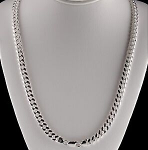 6mm-Miami-Cuban-Link-Chain-Solid-925-Sterling-Silver-Necklace-in-20-24-30-Heavy