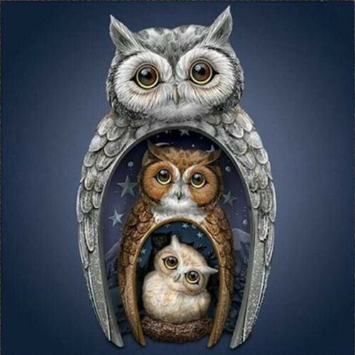 Cute Owl Full Drill 5D Diamond Painting Embroidery Home Art Cross Stitch Kits