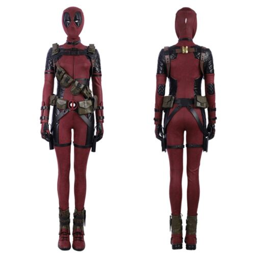 Deadpool Lady Cosplay Costume Women Vision Handmade