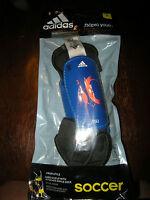 Brand Boys / Girls Blue & Orange Adidas F50 Soccer Shin Guards, S