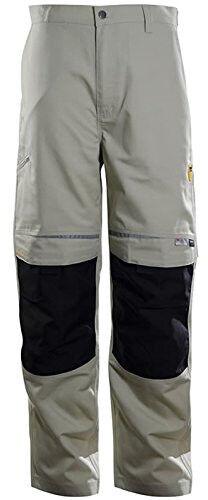 DBlade Mens Canvas Work Pants Khaki Reinforced Work Wear Trousers CE Certified