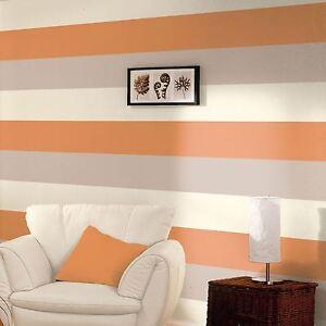 3-Couleur-Raye-Texture-Papier-Peint-Design-Orange-Cafe-Creme-E40915-Neuf