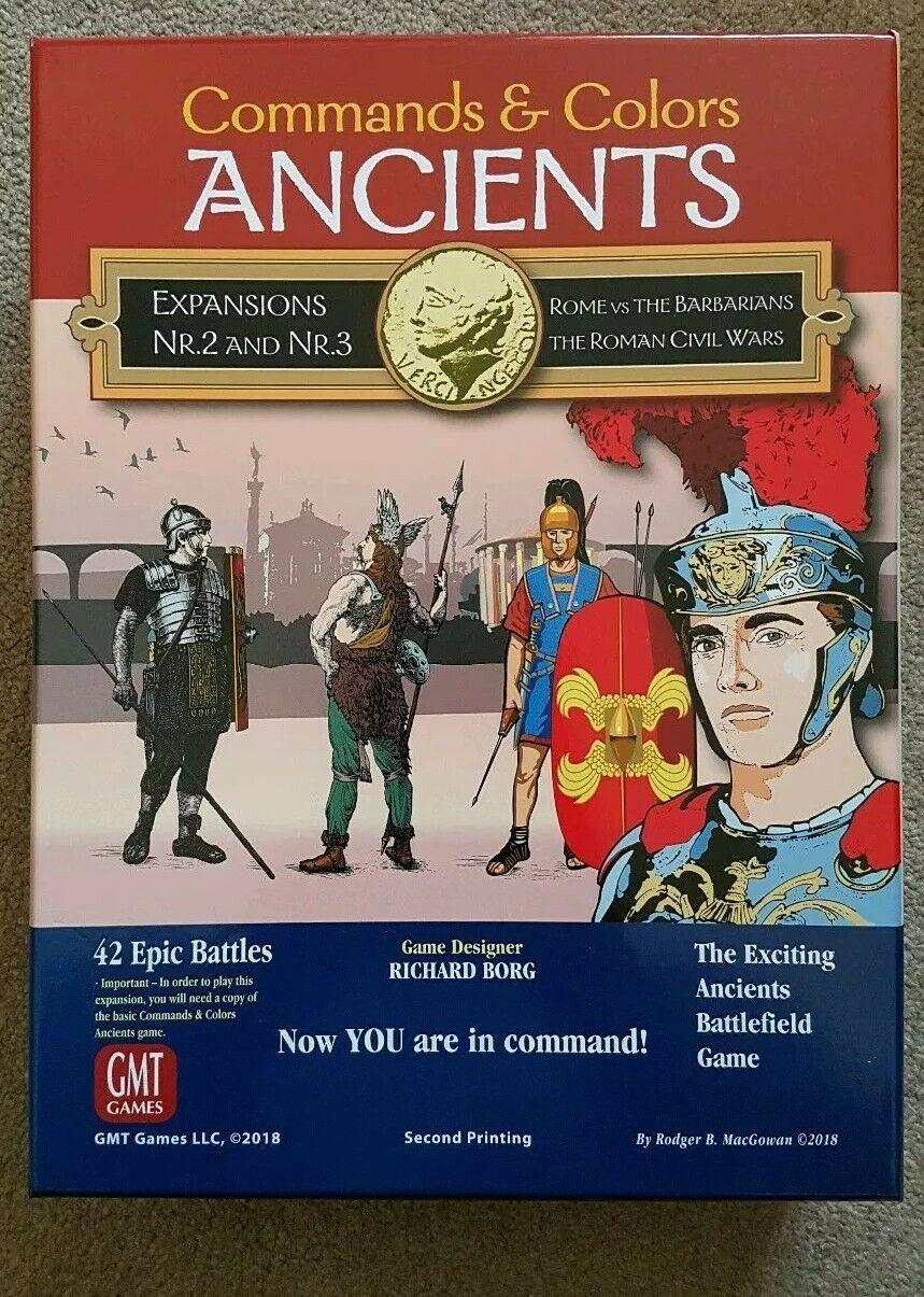 BEHANDLINGAR OCH FärgS ANCIENTS Utvidgar 2&3 GMT-spel ny 2nd utskrift 1407-18