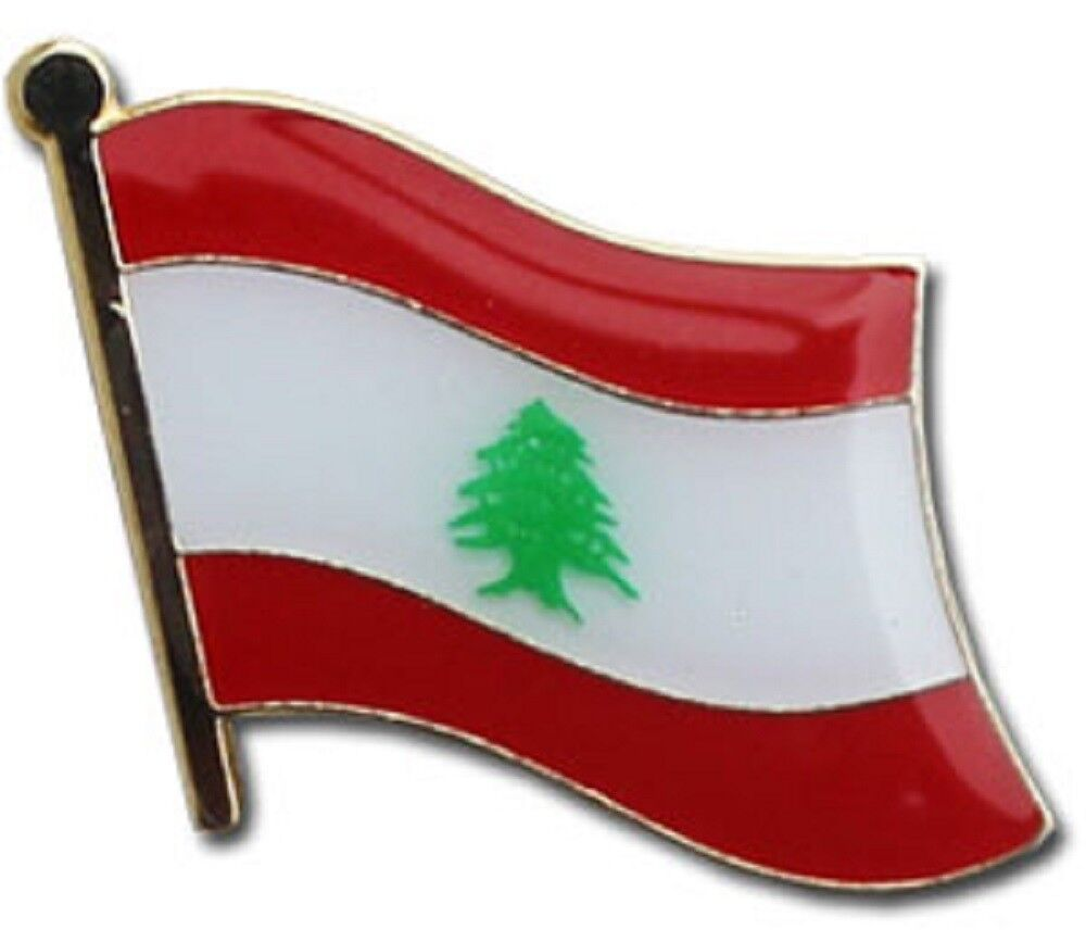 Großhandel 50 Stück Packung Libanon Landesflagge Fahrrad Hut Kappe Reversnadel