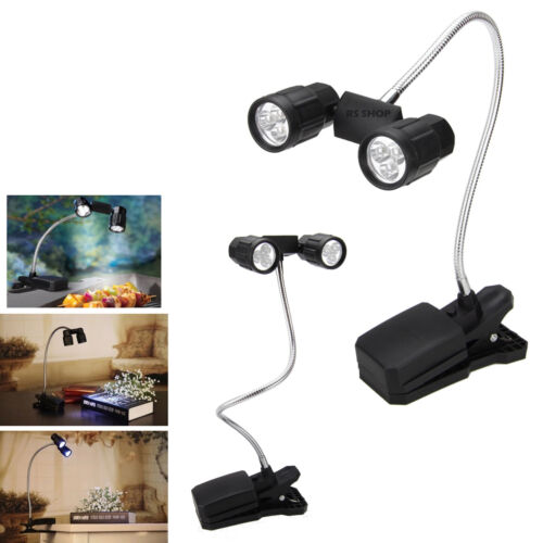 6 DEL Flexible 2-Chef Barbecue clip-on Light Table d/'ordinateur portable lecture Lampe Handy Tong