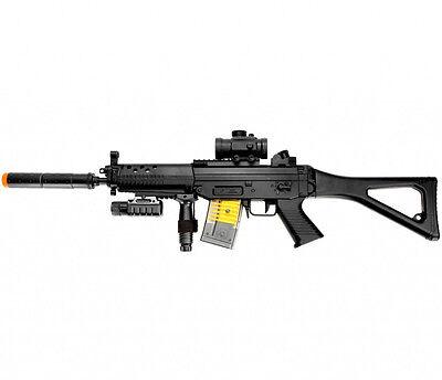 NEW UKARMS 552 AEG BB ELECTRIC AUTOMATIC AIRSOFT RIFLE GUN w/ FLASHLIGHT & LASER