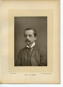 Vintage-Cabinet-Card-by-W-amp-D-Downey-Sir-James-Matthew-Barrie-1st-Baronet