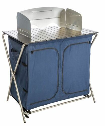 Camping Folding Prep Table Portable Kitchen Utility Sink Food Cooking Outdoor RV