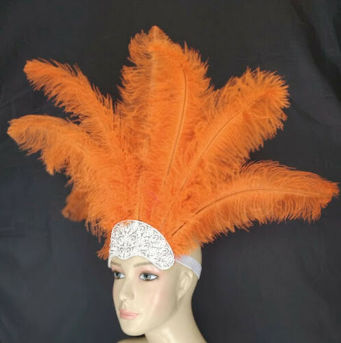 Carnival Dance Headdress Ostrich  Feathers Made in USA