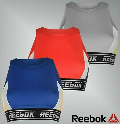 Ladies Reebok Stylish Speedwick Stretchy Workout Bralette Top Sizes 6-18
