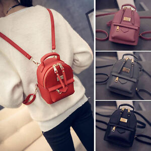 Women-039-s-Faux-Leather-Convertible-Small-Mini-Backpack-Rucksack-Shoulder-bag-Cute