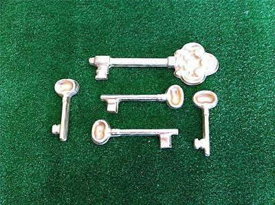 Key Mould  5 keys in set -  Plaster - Garden Ornament - Theatre Prop