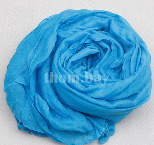 Ladies Women Soft Long Neck Large Plain Scarf Wrap Shawl Pashmina Stole