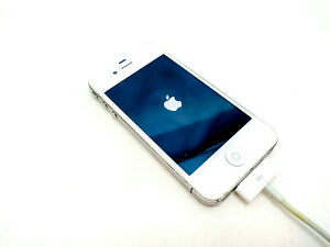 Apple-iPhone-4S-White-A1387-Untested-Turns-On-Stuck-on-Logo