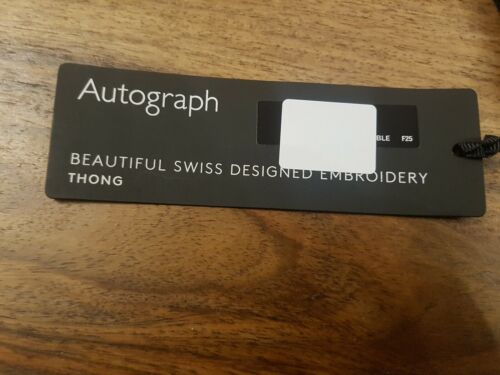 Thong M/&S AUTOGRAPH Athena Embroidery Thong Size 20