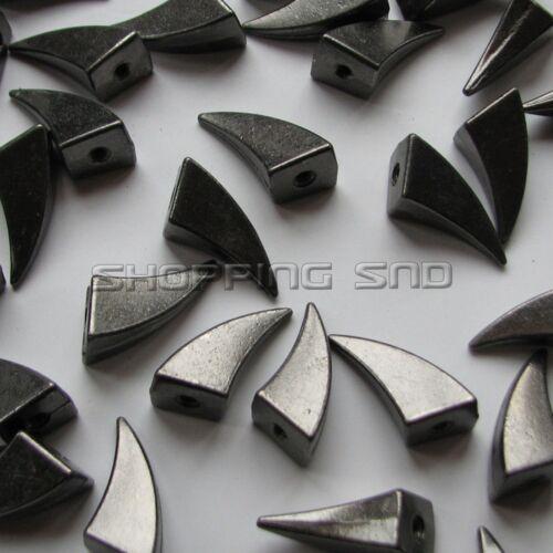 RUBYCA 17mm Dragon Claw Shark Fin Spikes Studs Black Gunmetal Screw Leathercraft