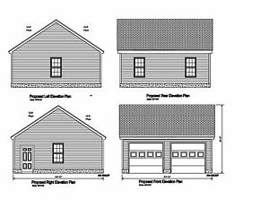 24x24 2 car garage plan gable opposing roof plan 17 for 24x24 garage plans