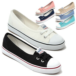 New-Womens-Girls-Classic-Lace-Up-Canvas-Shoes-Casual-Comfort-Sneakers-7-Colors