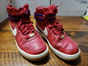 Nike Air Force 1 High Gs Boys Youth 5y Gym Red Royal Blue 653998