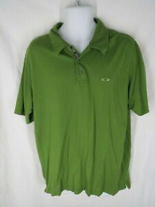 Oakley-Mens-Size-XL-XLarge-Green-Short-Sleeve-Regular-Fit-Polo-Shirt