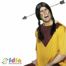 RED INDIAN ARROW THROUGH THE HEAD - mens ladies adult fancy dress costume